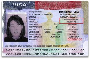 Find Alien number on immigrant visa
