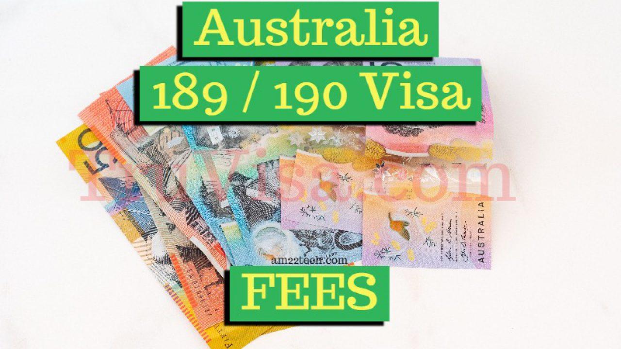 Australia PR Fees - 189, 190 Fees for Permanent Residency