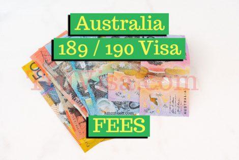 Australia 189 - 190 visa fees