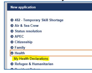Click My Health Declarations