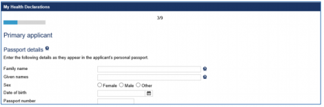 Enter personal details for HAP ID