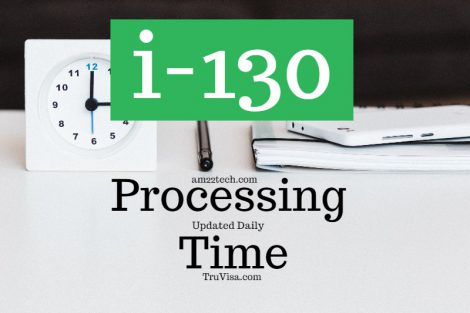 Current i130 green card for-family processing time