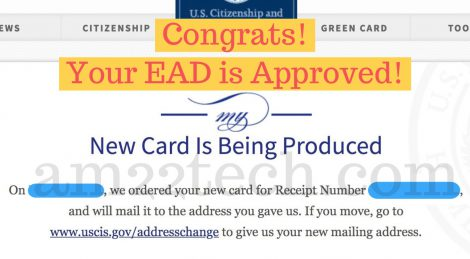 New card is being produced EAD - USCIS status update