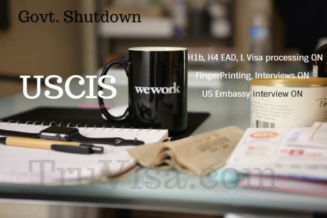 USCIS is open during govt shutdown