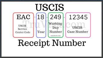 USCIS Receipt number status i797 notice