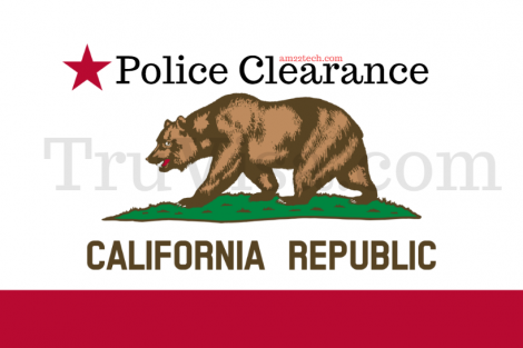 California state police clearance
