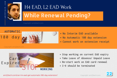 H4 EAD cannot work while renewal pending after current EAD expiry