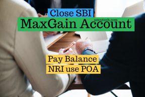 Close SBI Maxgain account