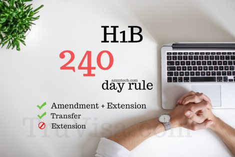 H1B amendment + extension, transfer can work after 240 days