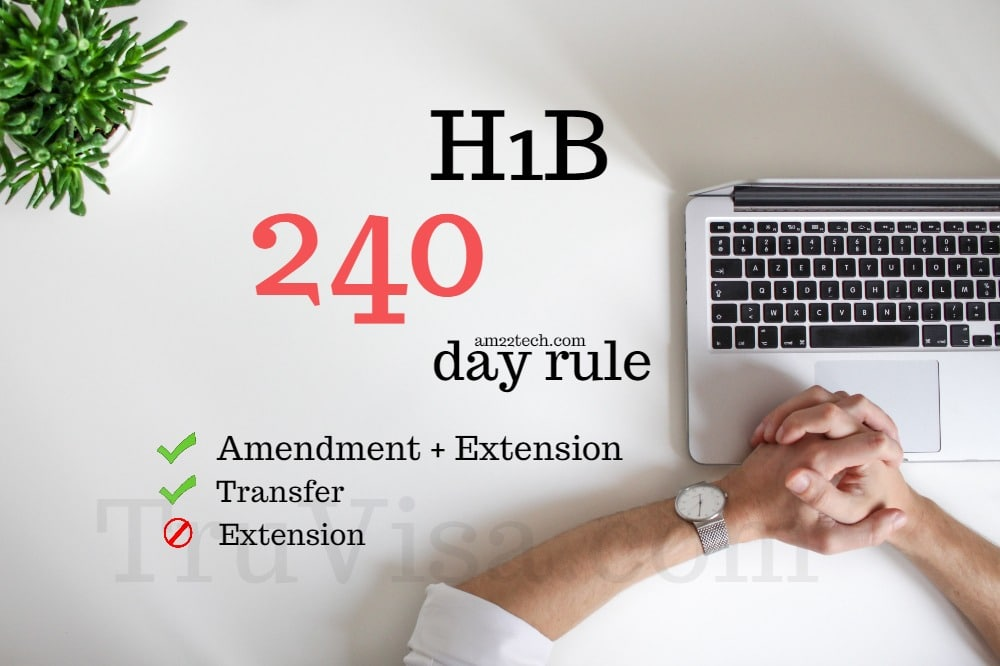 H1B Extension 240 Day Rule Allows Stay in US after i94 Expiry - AM22