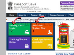 Register passport seva kendra for Indian police clearance online