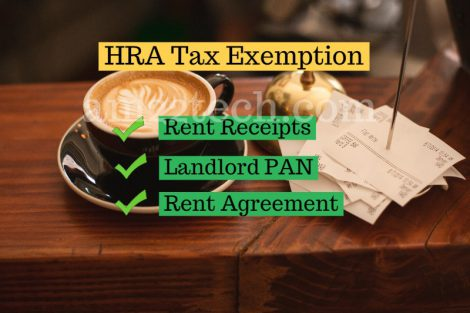 Rent receipts for HRA tax exemption India