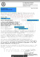 Sample FBI police clearance certificate