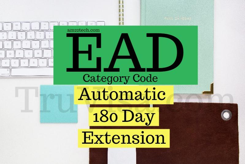 USCIS EAD category codes