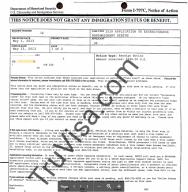 USCIS i797C notice of action