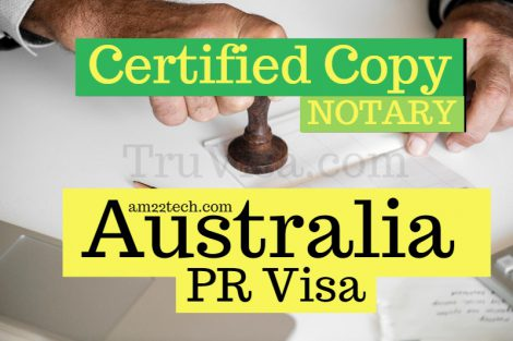 Australia PR certified copy notary stamp