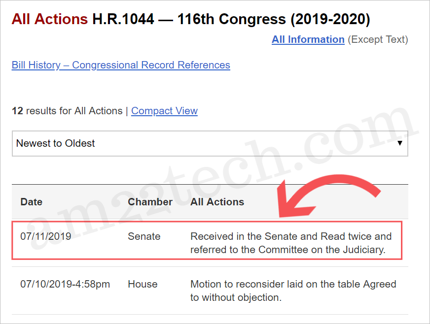 HR 1044 submitted in Senate