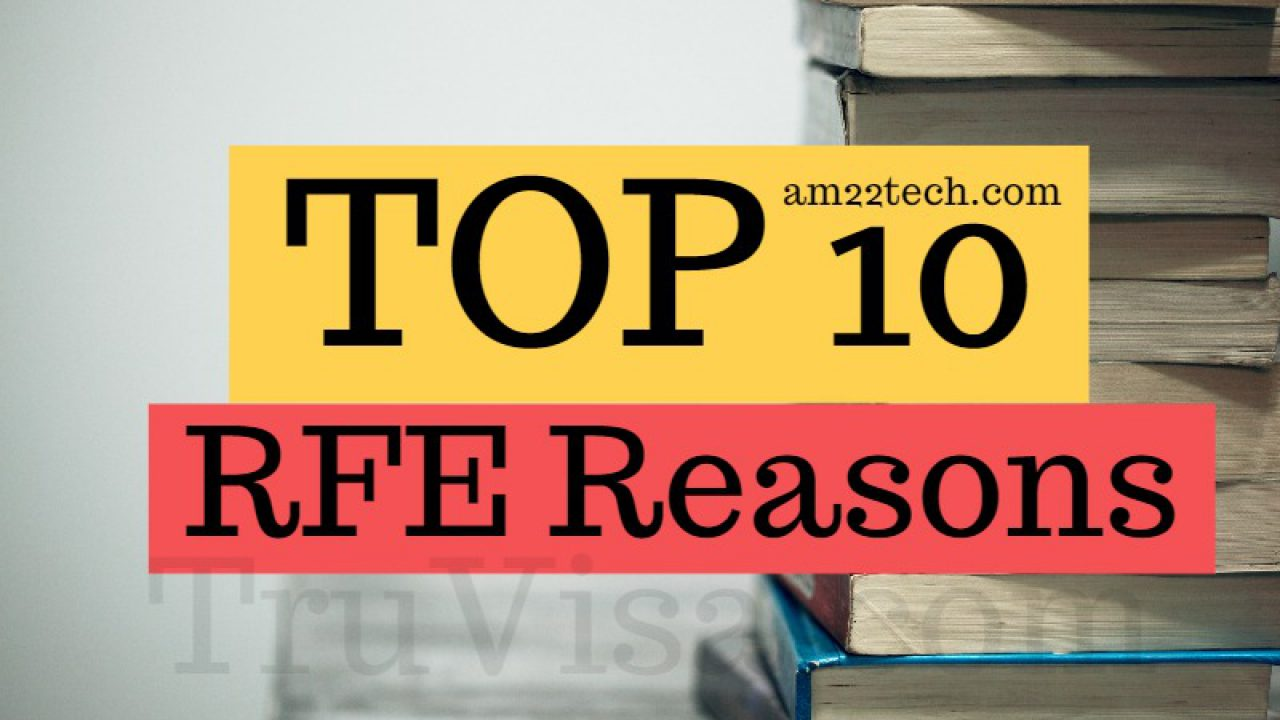Top USCIS Reasons for H1B RFE, Specialty Occupation - AM22 Tech