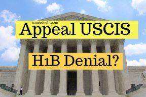 Appeal USCIS H1B Denial