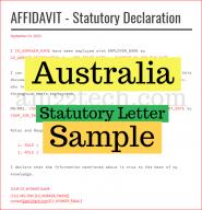 Australia statutory letter sample