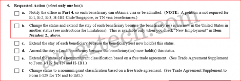 Form i-129 - Choose H1B change of status option for premium processing
