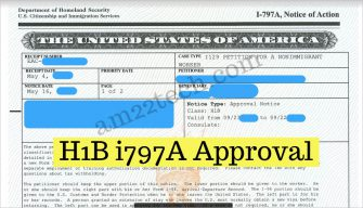Sample H1b Approval i797a form