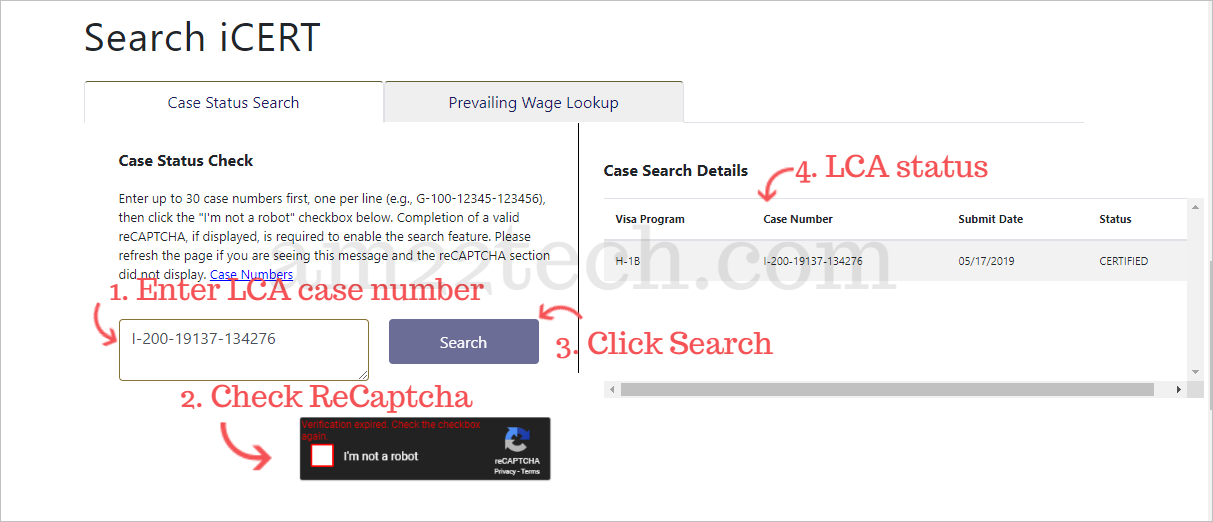 Check LCA Status Online, H1B Salary, Processing Time - AM22 Tech