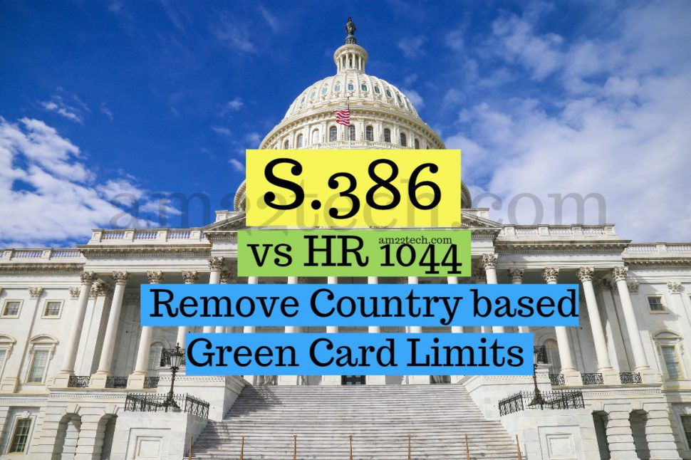 S386 fairness for high skilled immigrants act is same as HR 1044
