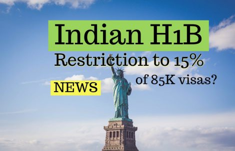 USA thinking of limiting Indian H1B to 15% of total Visas