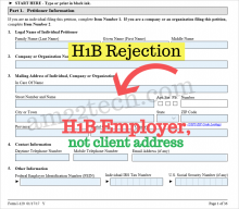 USCIS will reject H1B applications without employer address
