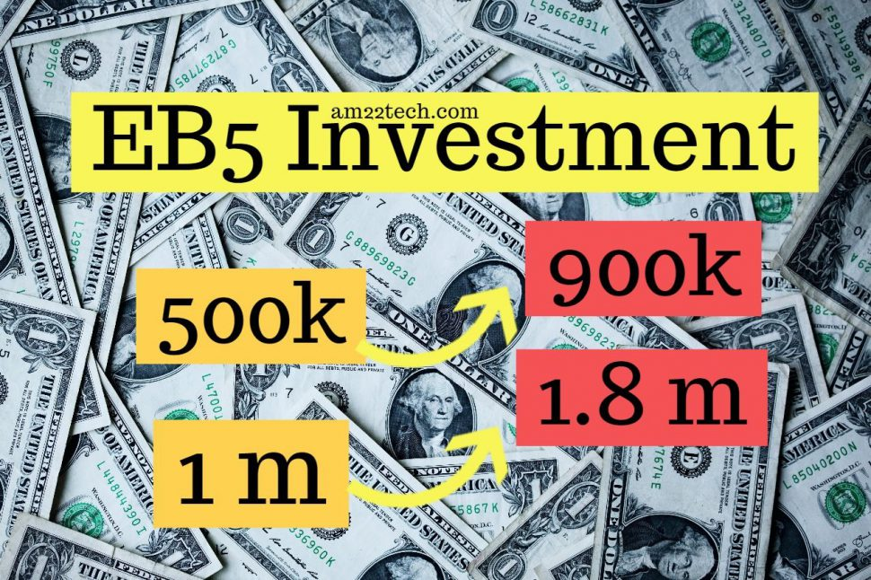 EB5 investment amount