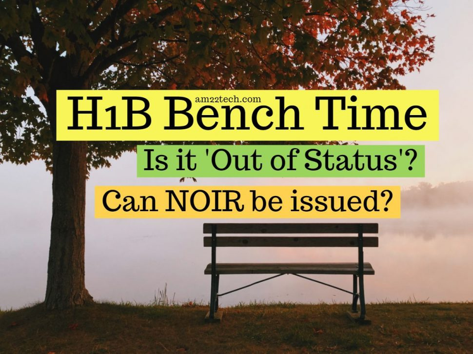 H1B bench time - Is it out-of-status?