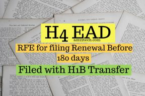 H4 EAD 180 day RFE for filing too early with H1B transfer