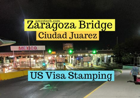 US Mexico Ciudad Juarez visa stamping