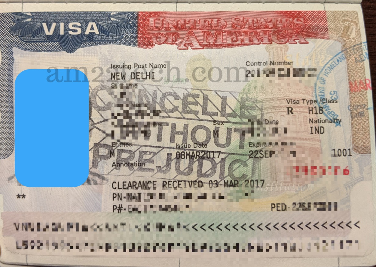 US visa cancelled without prejudice stamp