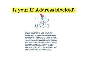 USCIS case status IP address blocked error