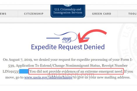 USCIS denied EAD expedite request without chance to prove