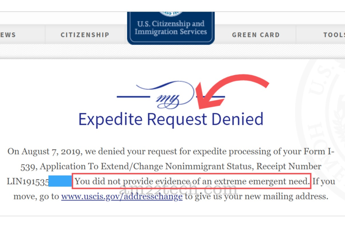 USCIS Denying EAD Expedite Request - Did Not Provide Evidence of