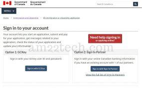 Canada visa CIC gckey login loop solution