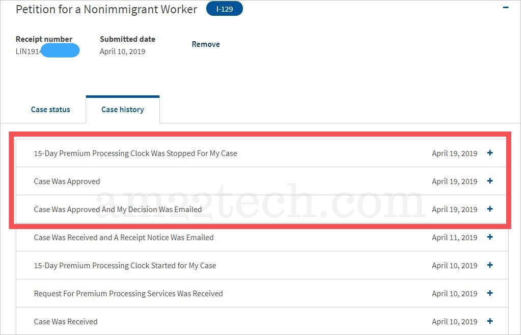 H1b premium processing clock was stopped after approval