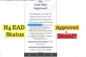 H4 EAD status shows both approval and denial at same time