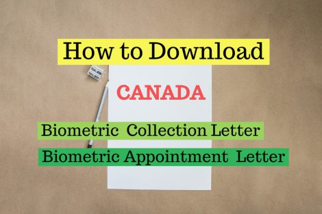 How to download Canada biometric letter
