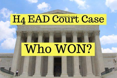 Who won H4 EAD federal court Case?