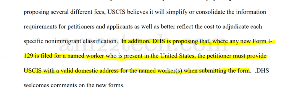 USCIS - provide domestic address for H1B extension