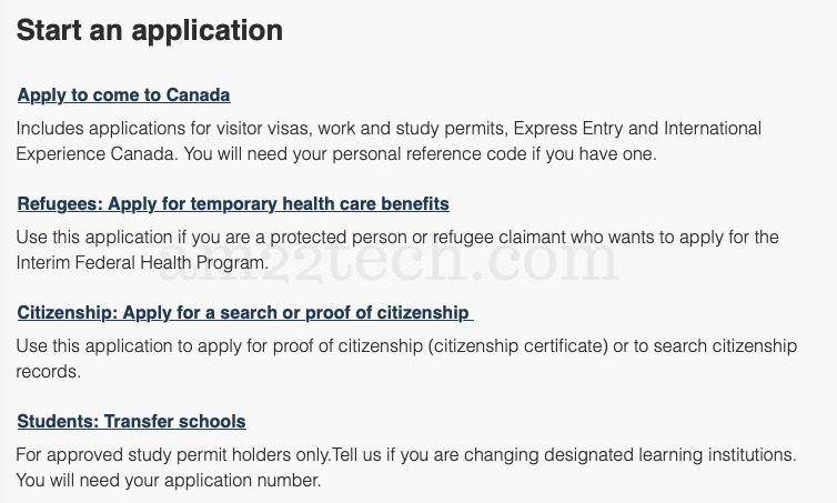 Apply to come to Canada PR