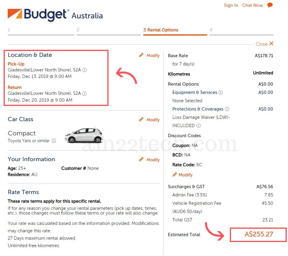 Australia car rental city location