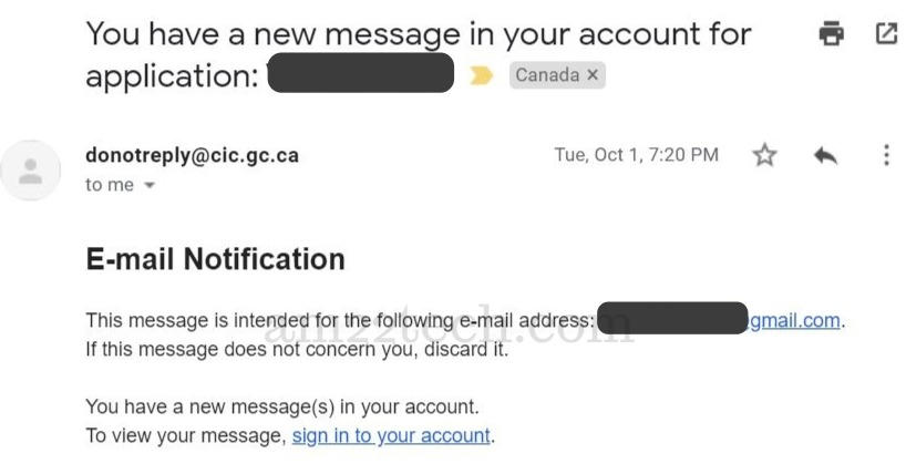 Canada CIC email to submit passport