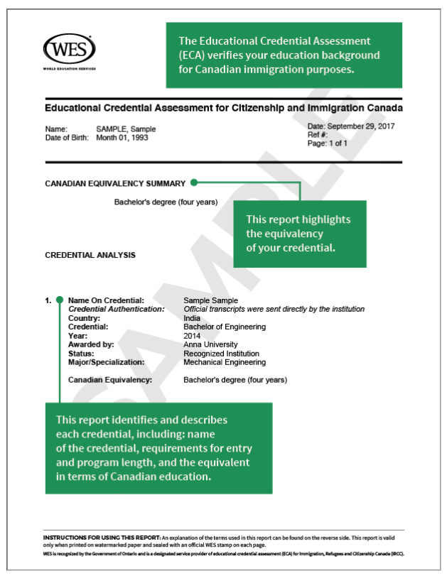 WES assessment report