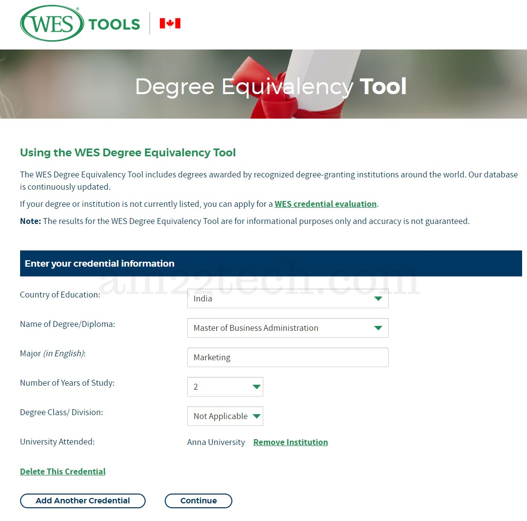 How To Use WES Free Degree Equivalency Tool?