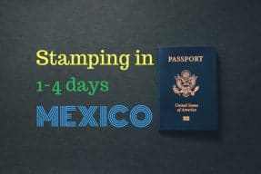 Stamping in Mexico processing time
